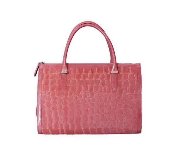 Luxusní kabelka s chlupem Elega Cory růžová