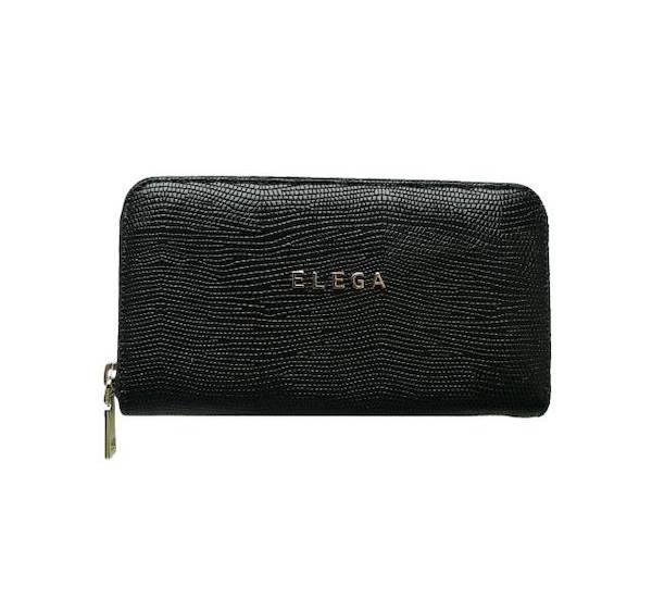 Dámská peněženka Elega Mopsy černý ještěr