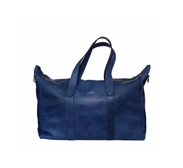 Kožená cestovní taška Elega Tipsy modrá