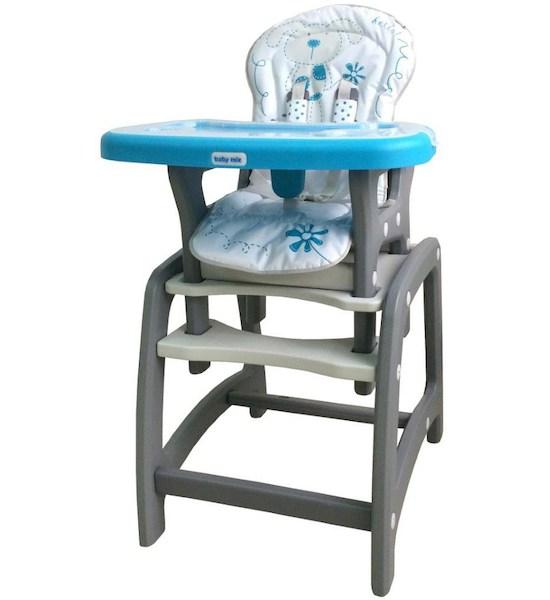 Jídelní židlička Baby Mix 2v1 modrá, Modrá