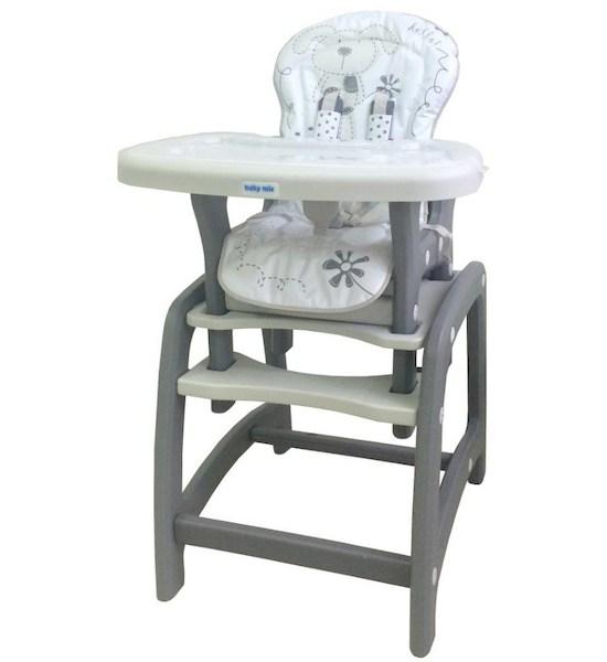 Jídelní židlička Baby Mix 2v1 šedá, šedá