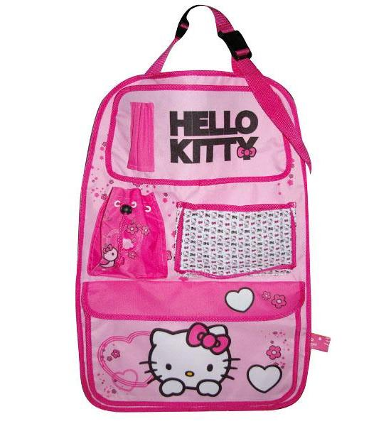 Kapsář do auta Hello Kitty, Růžová