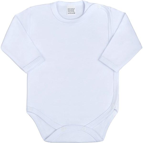 Kojenecké body celorozepínací New Baby Classic zelené, vel. 50, Bílá