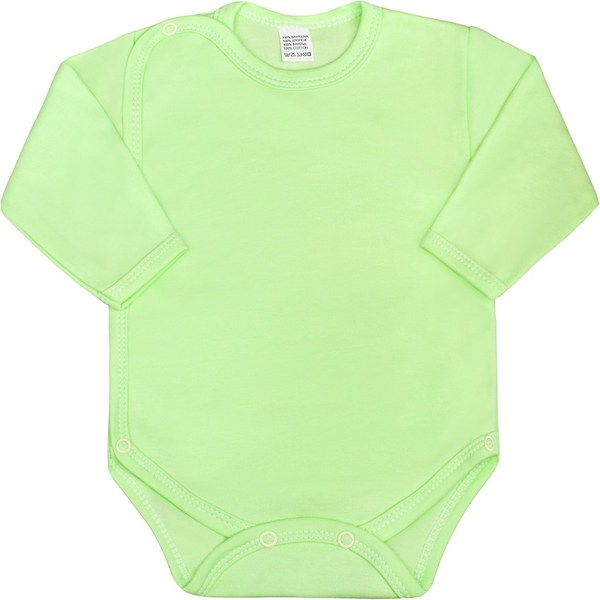 Kojenecké body celorozepínací New Baby Classic zelené, vel. 62 (3-6m), Zelená