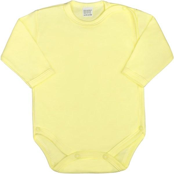 Kojenecké body celorozepínací New Baby Classic zelené, vel. 50, Žlutá