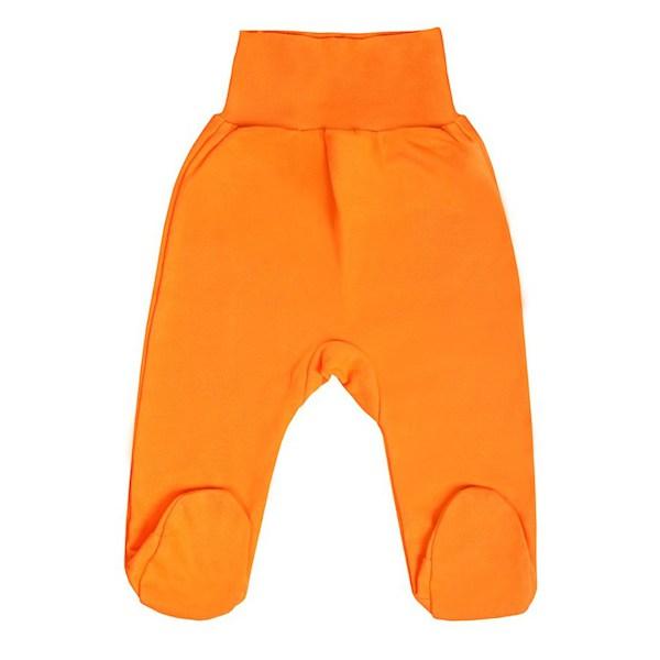 Kojenecké polodupačky New Baby bílé, vel. 86 (12-18m), oranžová