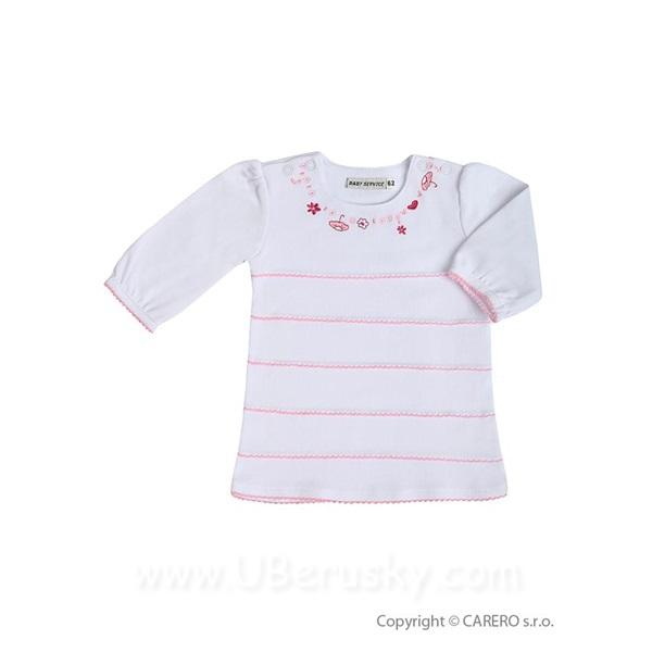 Kojenecké šaty s dlouhým rukávem Baby Service Deštník, vel. 80 (9-12m.), Bílá