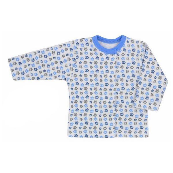 Kojenecký kabátek Koala Magnetky malinový se spirálkami, vel. 56 (0-3m), Modrá