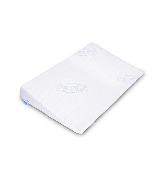 Kojenecký polštář - klín Sensillo bílý 59x37 cm, Bílá