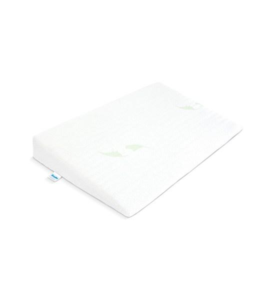 Kojenecký polštář - klín Sensillo bílý Luxe s aloe vera 60x38 cm, Bílá