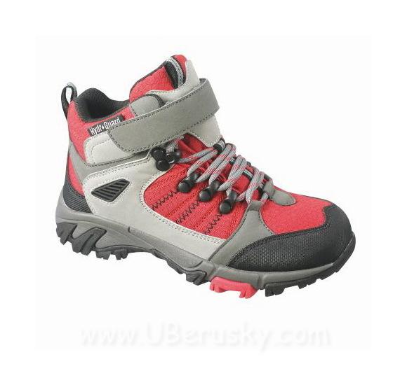 Kotníková outdoorová obuv Snooper, vel. 35, šedo-červená