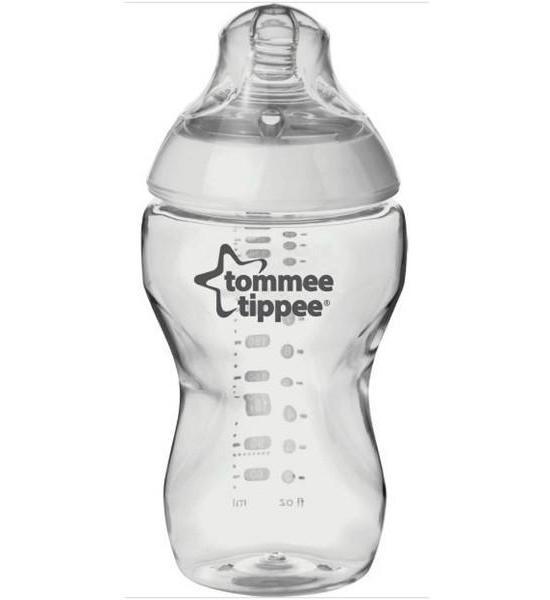 Láhev Tomme Tippee C2N 340 ml, Transparentní