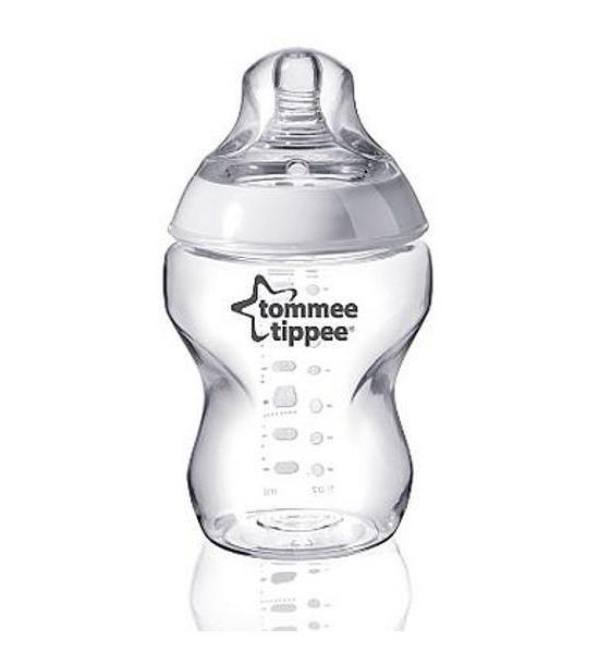 Láhev Tommee Tippee C2N 260 ml, Transparentní
