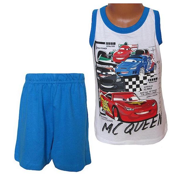 Letní komplet, pyžamo Cars (EP2045), vel. 128, modro-bílá