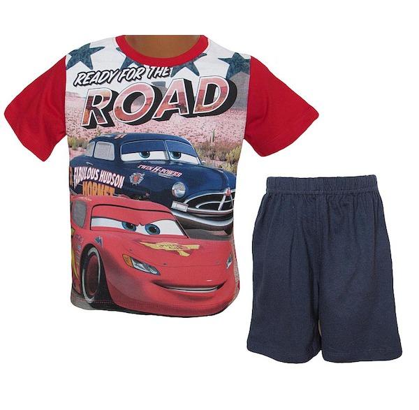 Letní komplet, pyžamo Cars (QE2109), vel. 116, červeno-modrá