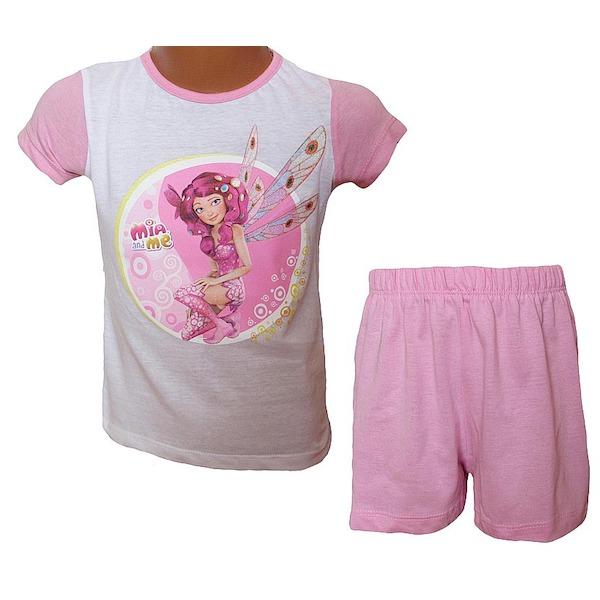 Letní komplet, pyžamo Mia and me (OE2111), vel. 98, bílo-růžová