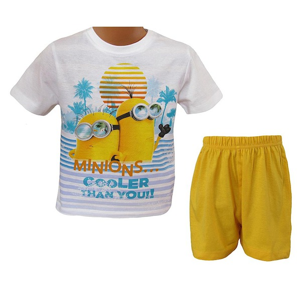 Letní komplet, pyžamo Mimoni (EP2002), vel. 128, žluto-bílá