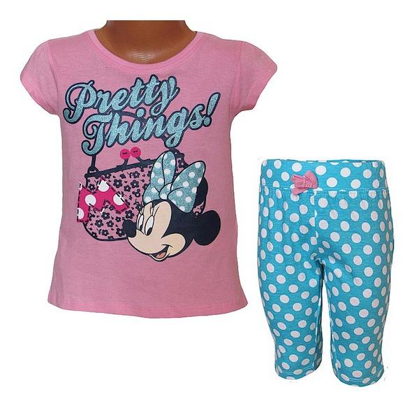 Letní komplet, pyžamo Minnie (EP2027), vel. 128, růžovo-tyrkysová