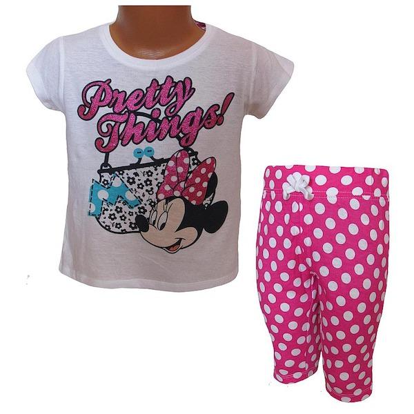 Letní komplet, pyžamo Minnie (EP2027a), vel. 116, růžovo-bílá