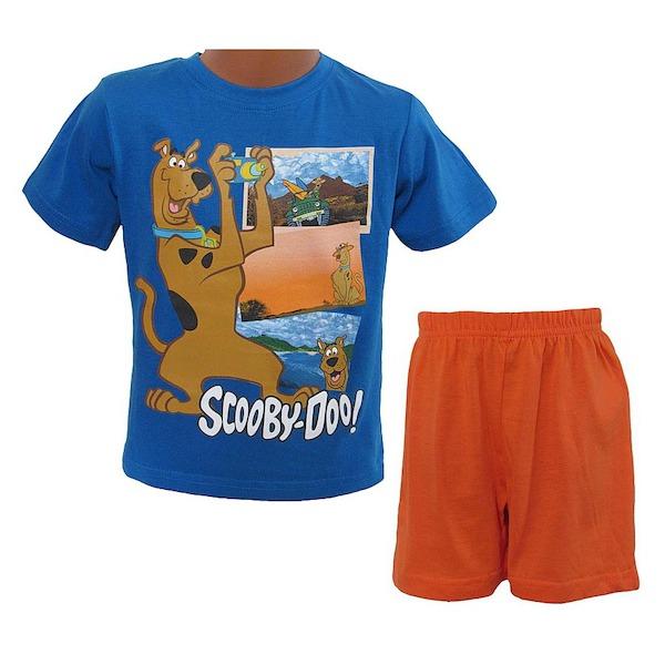 Letní komplet (pyžamo) Scooby doo (OE2077), vel. 98, modro-oranžová