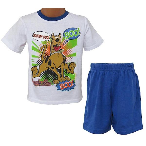 Letní komplet (pyžamo) Scooby doo (OE2077), vel. 98, bílo-modrá
