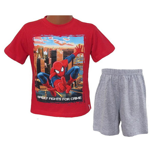 Letní komplet (pyžamo) Spiderman (EP2159), vel. 116, modro-šedá
