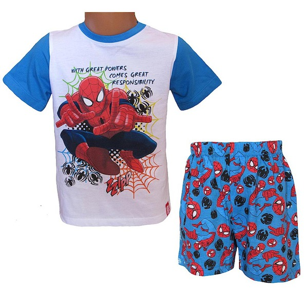 Letní komplet, pyžamo Spiderman (QE2049), vel. 98, modro-bílá