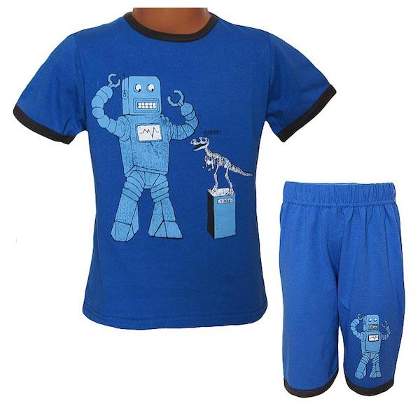 Letní komplet, pyžamo Wolf (S2763), vel. 104, Modrá