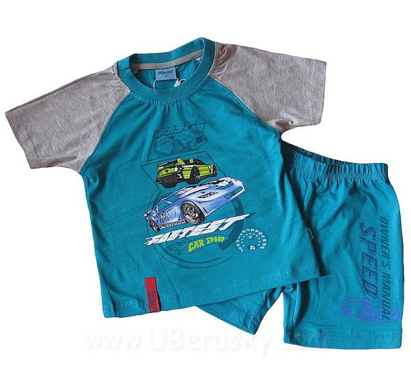 Letní pyžamo, komplet Kugo (T2018), vel. 122, tyrkysová