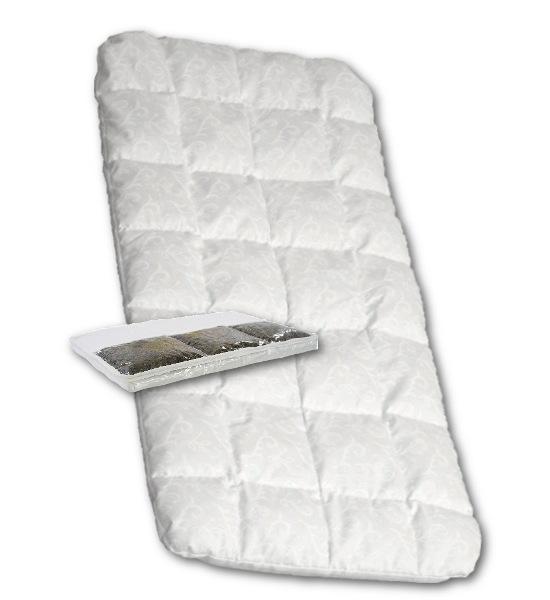 Matrace molitan-pohanka do kočárku bílá, Bílá