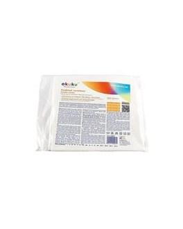 Nepromokavá podložka Akuku 90x120 - střední, Bílá