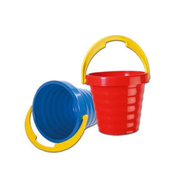 Plastový kyblíček - modrý, Červená