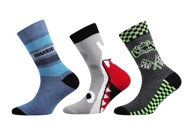Ponožky Boma 3 páry (Zoo12), vel. 35-38, barevná