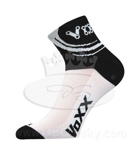 Ponožky cyklo Ralf Voxx, vel. 39-42, černo-bílá