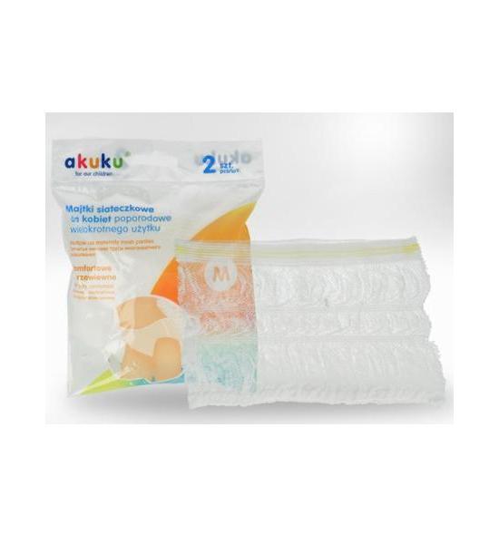 Poporodní kalhotky Akuku pro opakované použití vel.XL, Bílá