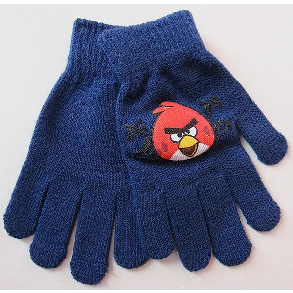 Prstové rukavice Angry birds, vel. 3-6 let, tm. modrá