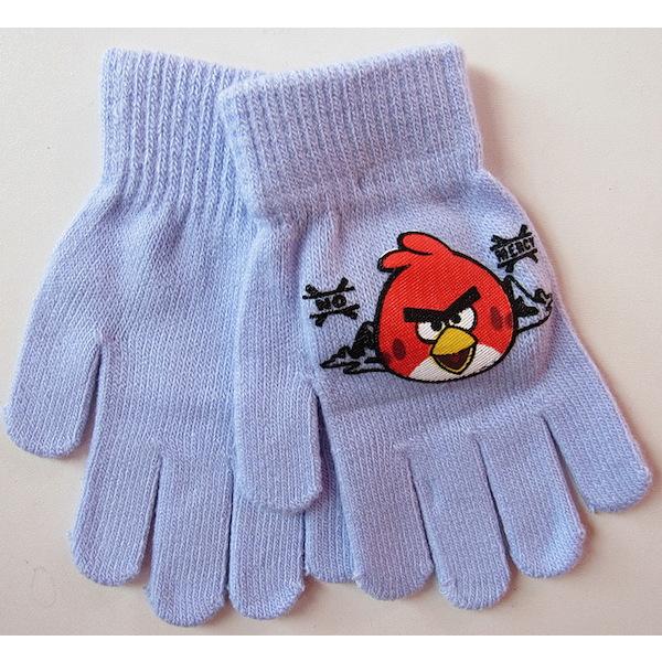 Prstové rukavice Angry birds, vel. 3-6 let, sv. modrá