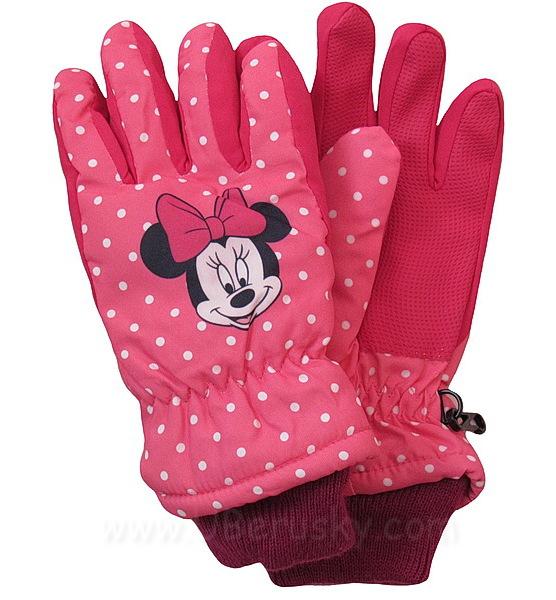Prstové rukavice Minnie, vel. 104, Růžová