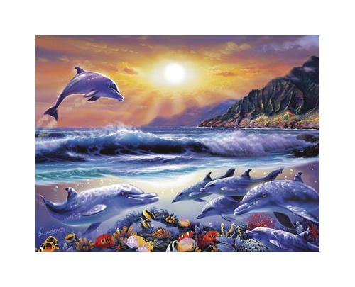 King Puzzle Život v oceánu 1000 dílků