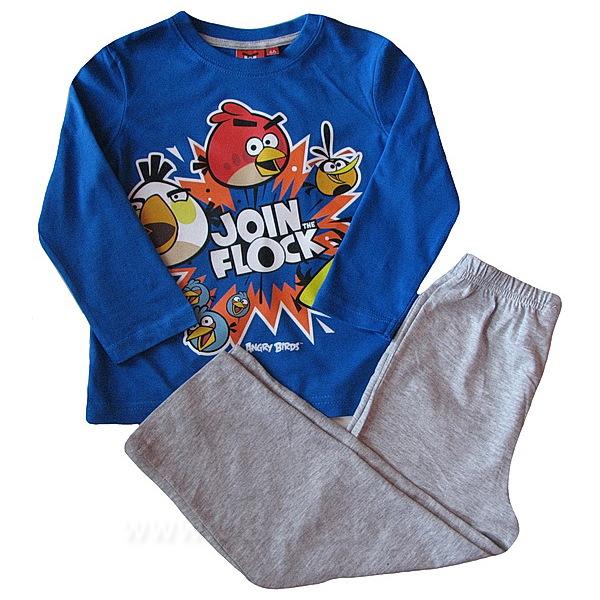 Pyžamo Angry Birds (OE 2129a), vel. 116, modro-šedá