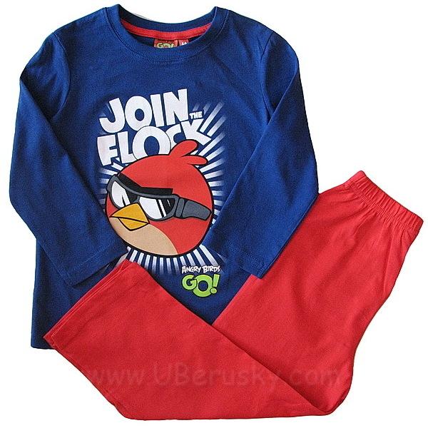 Pyžamo Angry birds (OE 2129), vel. 116, modro-červená