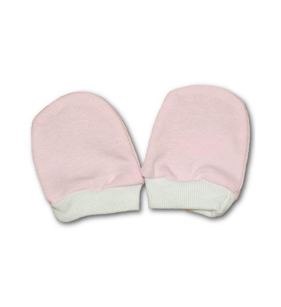 Rukavičky pro novorozence růžové, vel. 56 (0-3m), Růžová