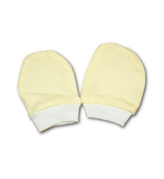 Rukavičky pro novorozence, vel. 56 (0-3m), Žlutá
