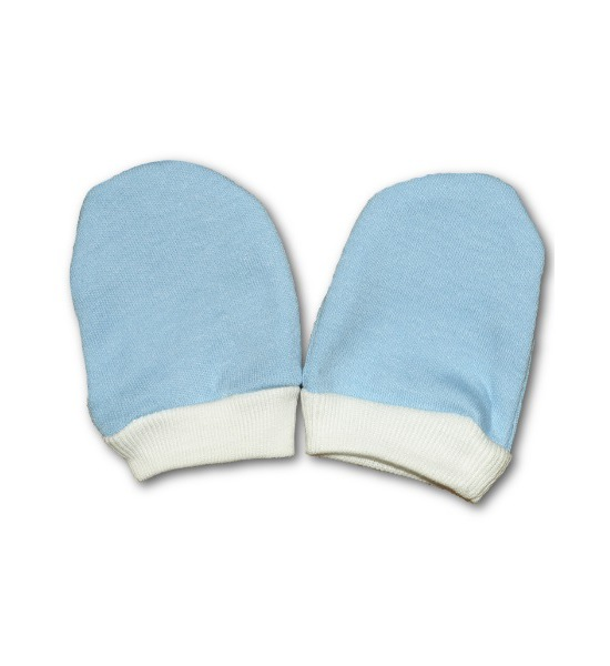 Rukavičky pro novorozence modré, vel. 56 (0-3m), Modrá