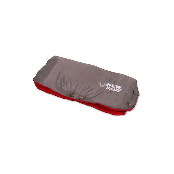 Rukávník na kočárek Classic Fleece grey/red, Červená