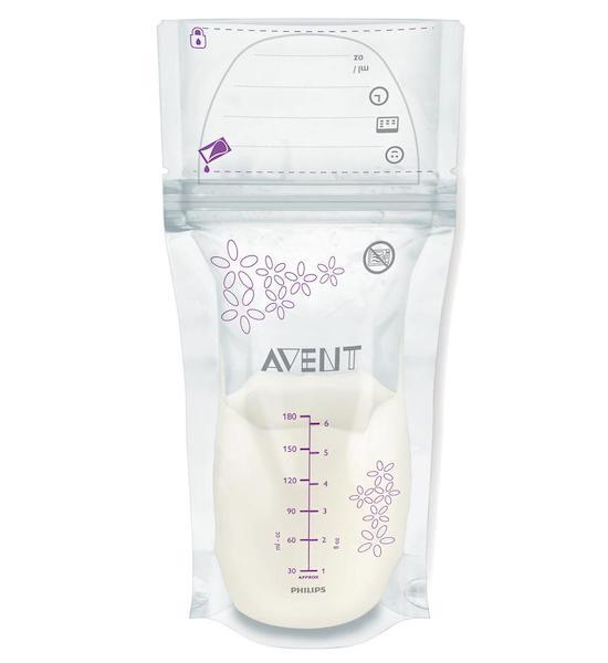 Sada sáčků na mléko Avent 180 ml - 25 kusů, Dle obrázku