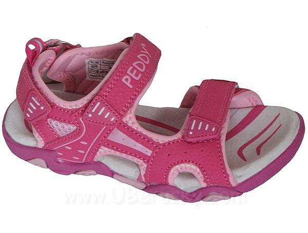 Sandále Peddy PU5123509, vel. 28, Růžová
