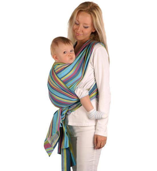 Šátek Womar na nošení dětí, tyrkysová