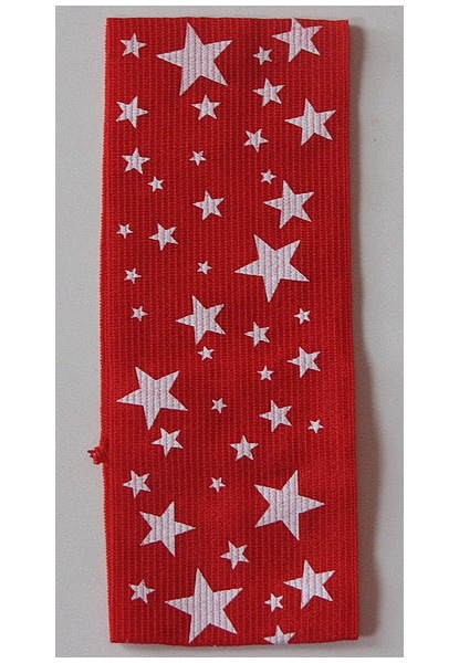 Bižuterie Lerch Široká pružná čelenka hvězda (ČH74), Červená
