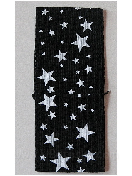 Bižuterie Lerch Široká pružná čelenka hvězda (ČH74), černá
